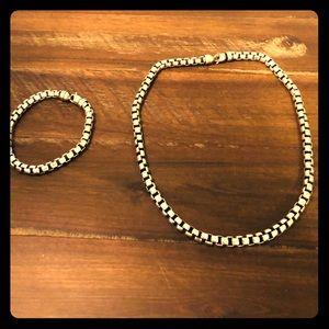 David Yurman Men's necklace & bracelet set